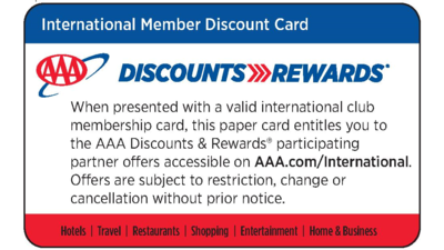International_Discount_Card_Vorderseite.PNG © AAA_Discount Card